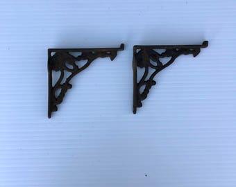 Antique Shelf Brackets, Victorian Cast Iron brackets