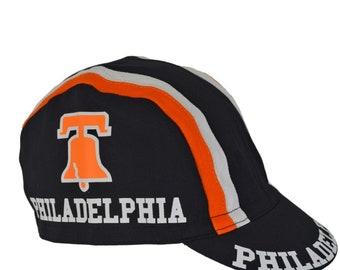 Black Philadelphia Bike Hat