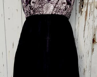 Gothic Spider Web & Scorpion Dress - Size 10 12 14 - Skater Rockabilly Raven Bat