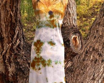 Medium,Large, Vintage Slip, Beach Cover Up, Upcycled, Lace Slip, Fairy, Surf Wear, Boudoir, Hippie, Boho, French Boudoir, Tie Dye Slip Dress