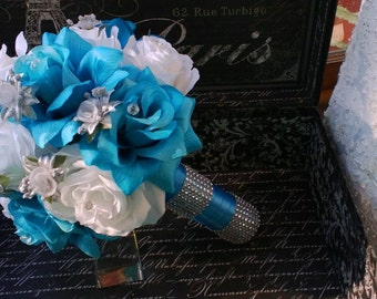 Malibu blue bouquet | Etsy