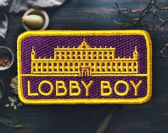 "Hotel Lobby Boy Patch | Sew On | Embroidered | Patches for Jackets | 3.4"" (Free Shipping US)"