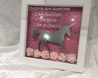 Unicorn decorative frames with Verse