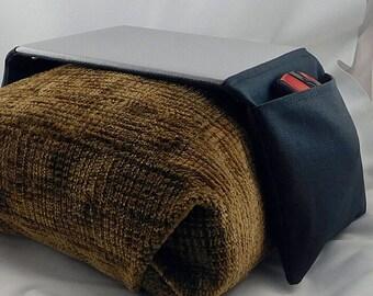 Arm Chair / Arm Rest Bean Bag Mouse Pad With Mouse Storage Pocket (Black/