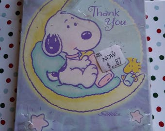 Blank Snoopy Cards vintage Thank You Cards Vintage cards baby shower baby