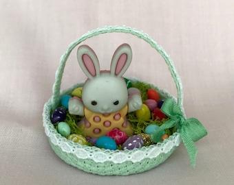 Bunny w Dress Easter Basket