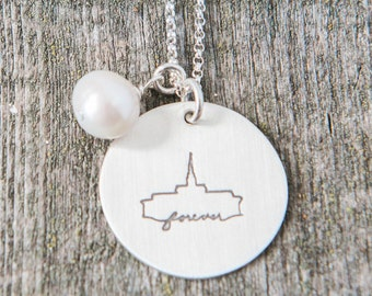 Orlando Temple, Temple Forever Necklace, Temple Necklace, Temple, LDS Jewelry, Mormon Charm, Temple Charms, LDS Wedding, Orlando, Florida