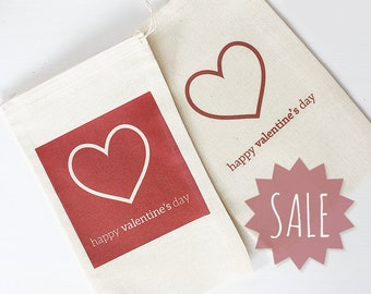 SAMPLE SALE - 75% OFF - Valentine #Drawstring #Goody #Bag - #Clearance #Sale