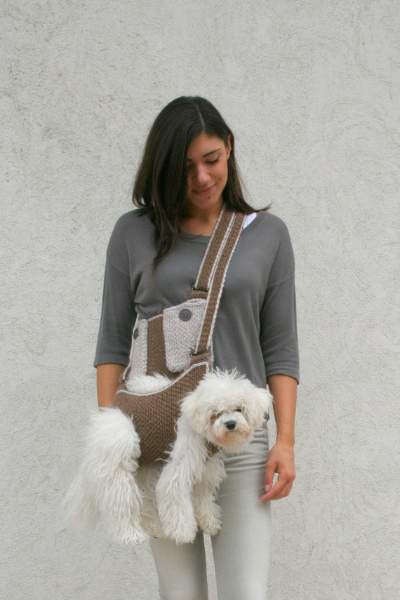 Pet Carrier Crochet Dog Carrier Dog Sling Carrier With