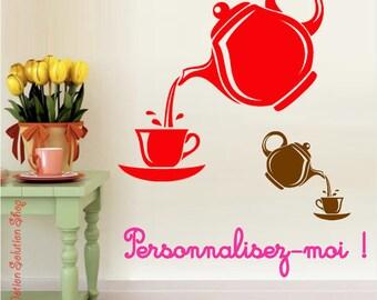 Teapot and Teacup customize sticker decal