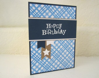 Happy Birthday Banners card  Masculine Birthday Card