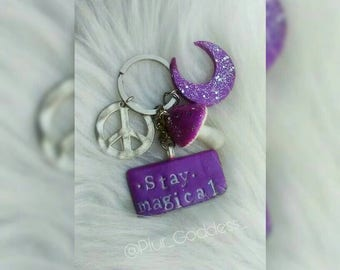 Unique Stay Magical keychain