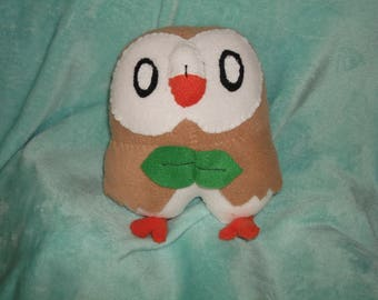 Rowlet inspired woodland grass owl
