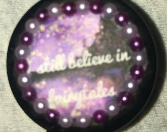 "Fairy Tales/Princess ""I Still Believe In Fairy Tales"" Retractable Badge/ID Holder"