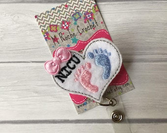 NICU badge reel, nurse badge reel, badge reel, id badge holder, retractable badge, id badge reel, NICU, NICU nurse, badge holder