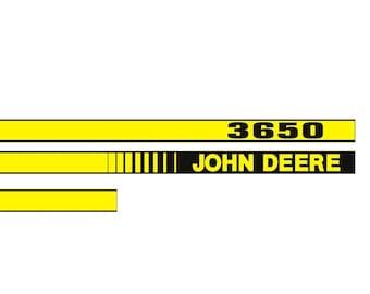 JOHN DEERE 3650 - Tractor decal set, replica