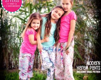 PATTERN Girls Harem Pants PDF Pattern: 'Little Miss Fancy Pants' - PDF Sewing Pattern - Instant Download - Pattern Emporium
