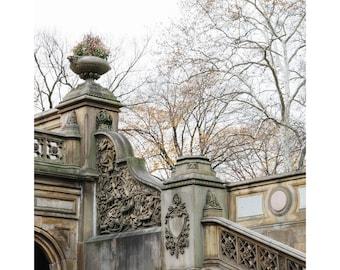 Central Park NYC Photography Bethesda Arcade Architecture Photography Bethesda Terrace Bethesda Fountain New York City Autumn Square Print