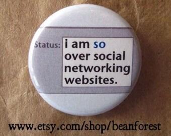 over social networking websites - facebook pin button #deletefacebook