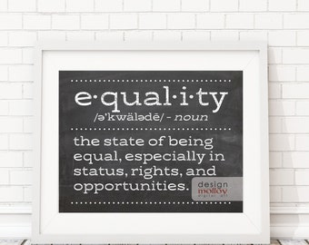 Equal Rights - Human Rights Quote - Protest Art Printable - Equality Poster - Equality for All - Gender Equality - Equality - Non Binary