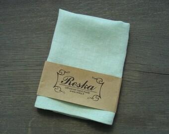 Mint linen pocket square for boys, groomsmen gift, mint wedding pocket squares, mint linen handkerchief for men, pocket square for weddings