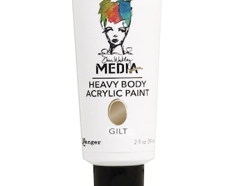 Dina Wakley Media Heavy Body Acrylic Paints - GILT