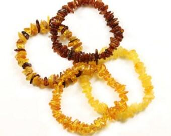 Genuine Amber chip bracelet 3 colours