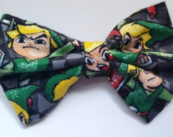 Zelda Bow- Zelda Hair Bow, Zelda Bow Tie, Zelda Accessories, Link, Geek Accessories, Geek Bow Ties, Geek Hair Bow, Zelda Bow, Hair Accessory