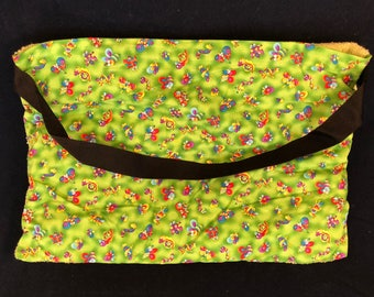 "Beach Towel Pool Bag Chair & Car Seat Cover - ""Bubagoos II"" - Lime Green Pocket - Kiwi (Light GREEN Towel) (BTB-52-0146-kiwig-LB10Y17Y18)"