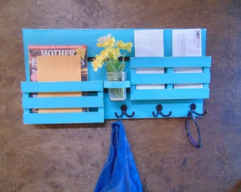 Mail Organizer - Entryway Organizer - Wall Mail Organizer - Mail and Key Holder
