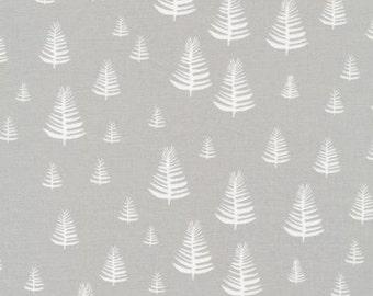 Grey, Gray, Organic, Designer, Cotton, Fabric, Pine, Trees, Woodland, Print, Forest, Cabin, Modern, Nature, Rustic, Cloud9, ChooseYourCut