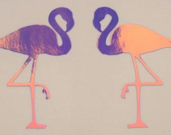 Holographic Flamingos Vinyl Decal