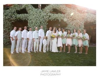 Brautjungfern zuckt mit den Schultern, eine Reihe von 8 Elfenbein Spitzen 4 Wege Schals für Maid Of Honor / Brautjungfern Hochzeit zuckt mit den Schultern. Bridal Party Geschenk Hochzeit rundet 15 %