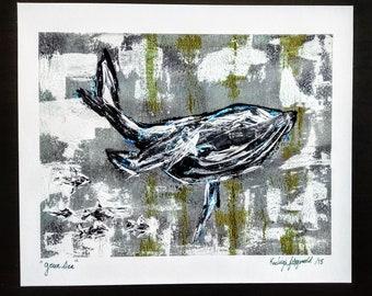 "Art Print ""Green Sea"""