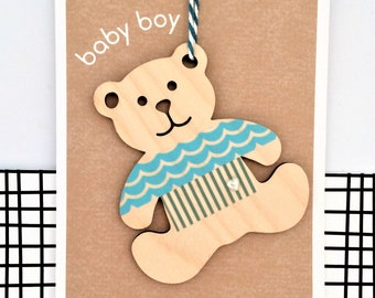 Baby Boy Card - Luxury Handmade Card, Keepsake Card, New Baby, It's a boy