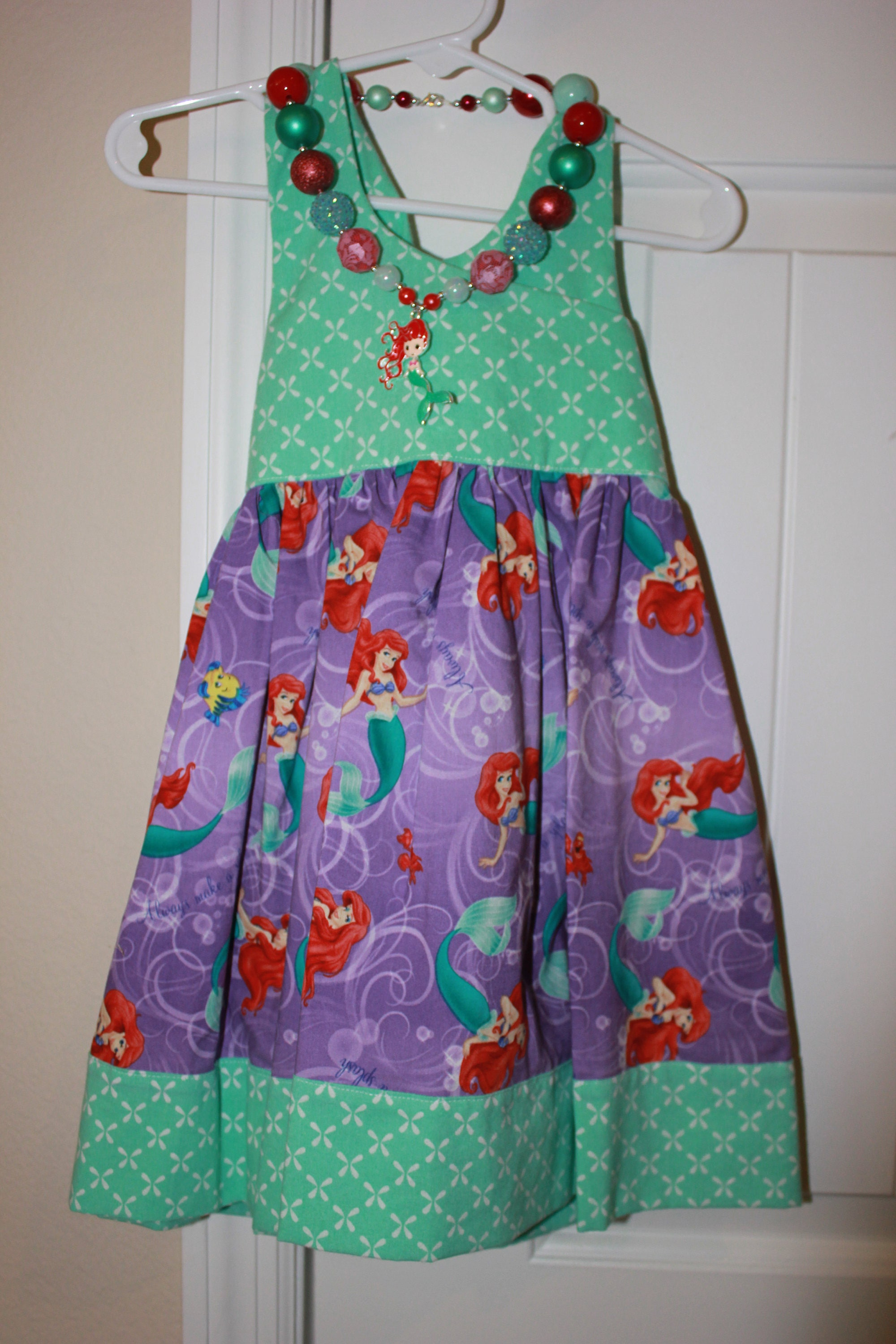 Disney Ariel Dress Little Mermaid Dress Handmade Dress Baby Dress