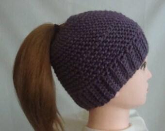 Messy Bun Hat, Bun Hat, Ponytail Hat, Purple Messy Bun Hat, Purple Bun Hat, Purple Ponytail Hat, Womens Bun Hat, Womens Ponytail Hat