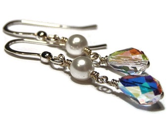 Bridal Collection - Swarovski Crystal and Pearl Earring