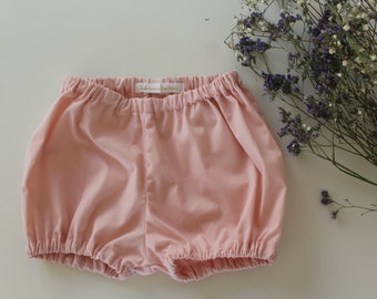 Bloomers, pants, baby girl pink cotton shorts