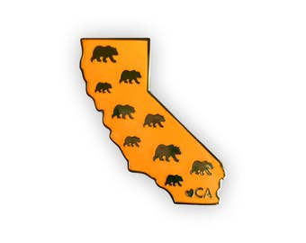 California Enamel Pin - California State Bear Pin
