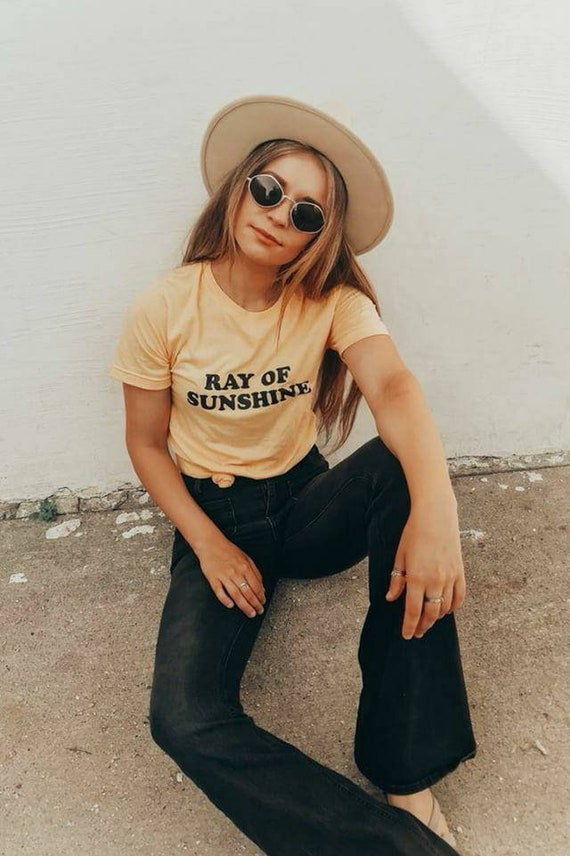 RAY OF SUNSHINE, Yellow Gold Tee, Sunshine Vibes, Ray Of Sunshine Tee, Ray Of Sunshine Tshirt, Ray of Sunshine, Good Vibes Tshirt