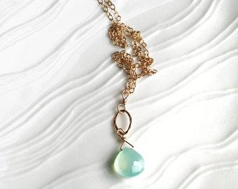 Pastel Necklace, Pastel Jewelry, Seafoam Necklace, Light Green Necklace, Bridesmaid Necklace