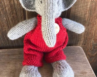 Elephant Eco Kids Toy Stuffed Animal Natural Eco Friendly Heirloom Quality Ready to Ship