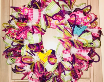 Spring Butterfly Wreath