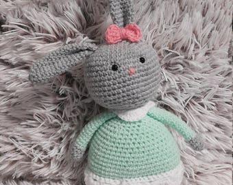 Amigurumi Bunny crochet, ready to ship