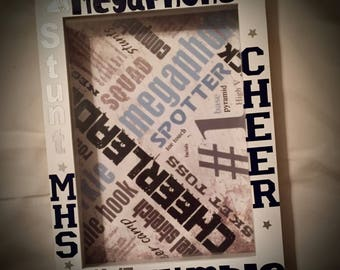 YOUR Sport/Text/Colors Pic FRAME~SHADOW Box Picture Frame 5x7