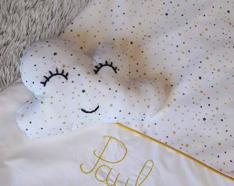 Decorative cushion cloud stars