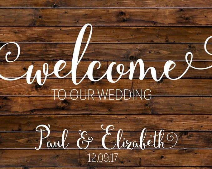 Rustic Wedding Welcome Sign / Welcome Wedding Sign / Wood Welcome Wedding Sign / Custom Wedding Sign / Printable Wedding Sign / Digital File