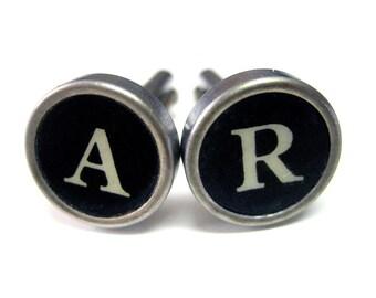 Personalized Typewriter Key Cufflinks
