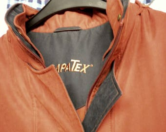 Sympatex, winter jacket, women, warm, weatherproof, size 22, dimension, sixth-sense by C & A, rust-orange, vintage